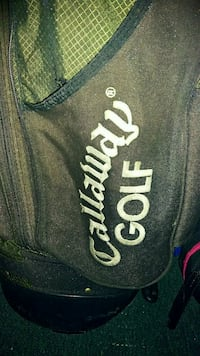 Calloway bag with stand and golf clubs