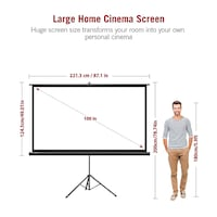 """NEW Projector Screen HD 100"""" 16:9 w Carrying Bag Gaithersburg"""
