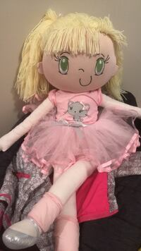 baby doll in pink dress Coquitlam, V3J 4A2