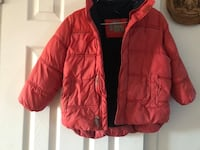 Red zip-up bubble jacket size 5 6 Laval, H7W 1T6