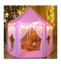 Princess fairy tent - new- with star lights