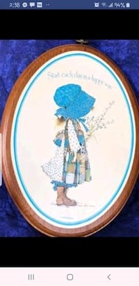 Vintage Holly Hobbie Wooden Wall Plaque/Picture/Art- Great Gift Idea - Barrie, L4N 9T3