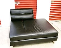 black leather tufted sofa chair Bladensburg, 20710