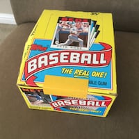 1986 Topps Baseball Wax Box San Leandro, 94577
