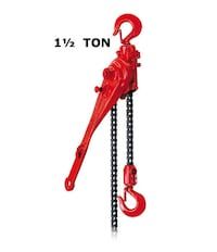 1-1/2 Ton Coffing G Series Ratchet Lever Hoist, AT Murrieta, 92563