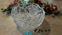 clear cut crystal glass bowl