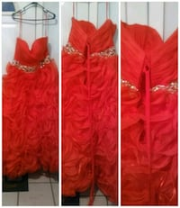 Red rose quincenera dress with corset Hubert, 28539