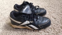pair of black Reebok baseball cleats Leesburg, 20175