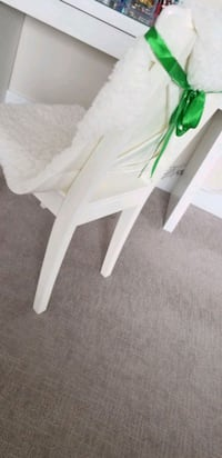 Brand new chair with cotton wool seat cover