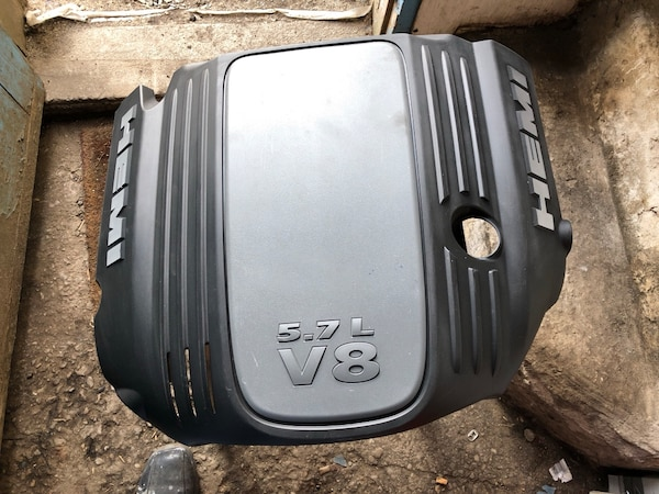 black and gray engine cover