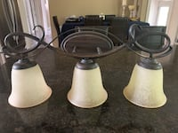 Light fixture with frosted glass