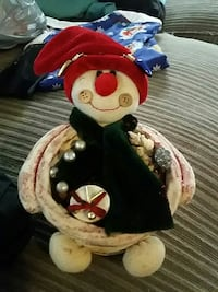fabric snowman ornament