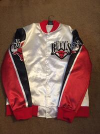 white and red Chicago Bulls letterman jacket Alexandria, 22306