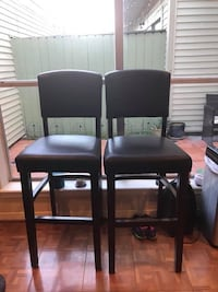 2 leather bar chairs
