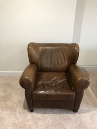 brown leather sofa chair with ottoman 29 mi