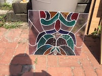 """Stained glass approximately 20""""x17"""""""