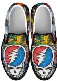 Grateful Dead Sneakers- Custom Steal Your Face sneakers