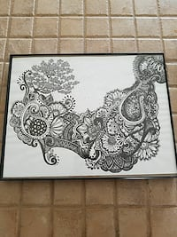 Art Pen Drawing Framed