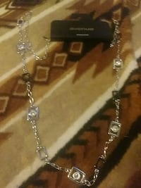 silver-colored chain necklace with pendant Midwest City, 73110