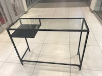 Ikea metal framed glass top table