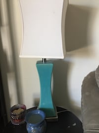 Teal lamps (2)