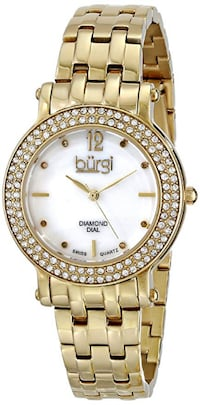 NEW Burgi BUR079YG Diamond Dial Women's Swiss Watch Toronto
