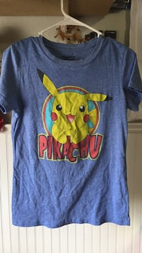 blue with pikachu print crew neck t-shirt Pahrump, 89061