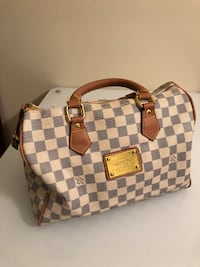 Damier Azur Louis Vuitton leather tote bag Rockville, 20852