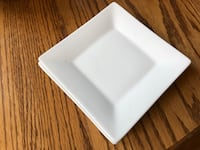 Crate & Barrel - 4 small square white plates Arlington, 22204