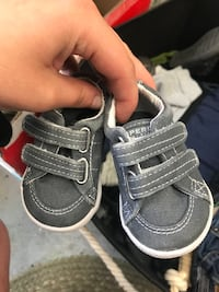Toddler's pair of gray velcro sperrys  Palm, 18070