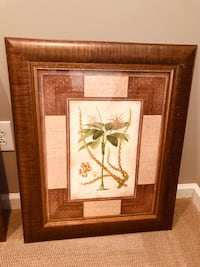 white and brown flower painting with brown wooden frame Cary, 27511