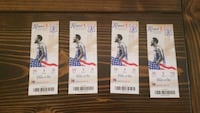 four basketball tickets Atco, 08004
