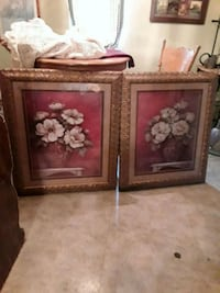 two brown wooden framed paintings Rossville, 30741