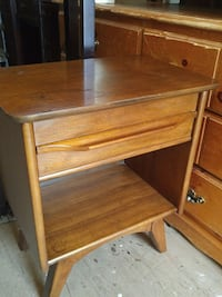 Solid Wood NIGHTSTAND Midcentury,BEDSIDE TABLE Oakville, L6L 3C1
