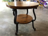 Round brown wooden side table Asheboro, 27317