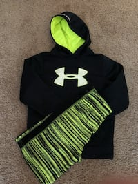 black and green Under Armour pullover hoodie Frederick, 21703