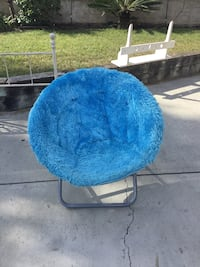 blue and gray moon chair