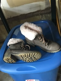 Pair of light brown leather look boots Richmond Hill, L4E