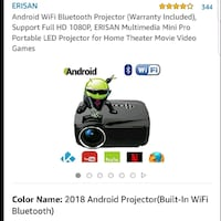 Android projector Ottawa, K1V 6M8