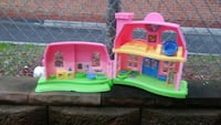 pink, green, and blue plastic dollhouse playset Norfolk, 23502