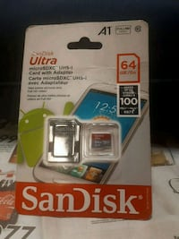 SanDisk SD 64 gb card  Winnipeg, R3M 2V9