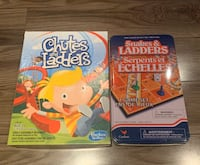2 Board games Chutes&Ladders + Snakes&Ladders Laval, H7K