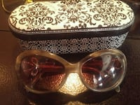 brown framed sunglasses with case West Kelowna, V4T 1K7