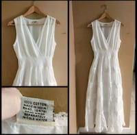 Brand New long white beach maxi dress Size Medium Livonia