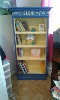 Solid Wood Bookshelf with Crown Molding