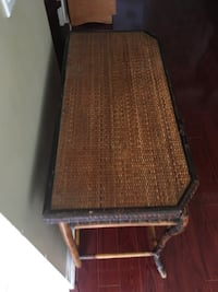rectangular brown wooden coffee table Brampton, L6R 1K5