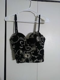 Blk and gold Bustier