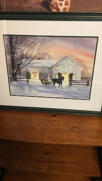 brown wooden framed painting of house Burnaby, V5A 3R7
