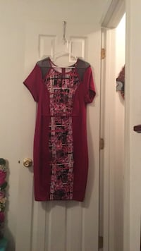 women's red and black dress Waverly Hall, 31831