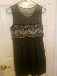 black and gray floral sleeveless dress Kennewick, 99337